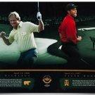 Tiger Woods & Jack Nicklaus Signed Autographed 36x18 Photo UPPER DECK