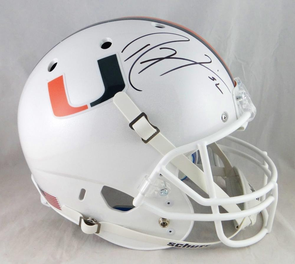 Ray Lewis Autographed Signed Miami Hurricanes Full Size Helmet JSA
