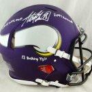 Adrian Peterson Autographed Signed 3 inscriptions Minnesota Vikings Speed Proline Helmet BECKETT
