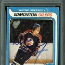 Wayne Gretzky Oilers Signed Autographed 1979 Topps Rookie Card PSA