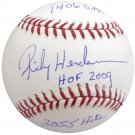 Rickey Henderson A's Yankees Signed Autographed Official Baseball STEINER