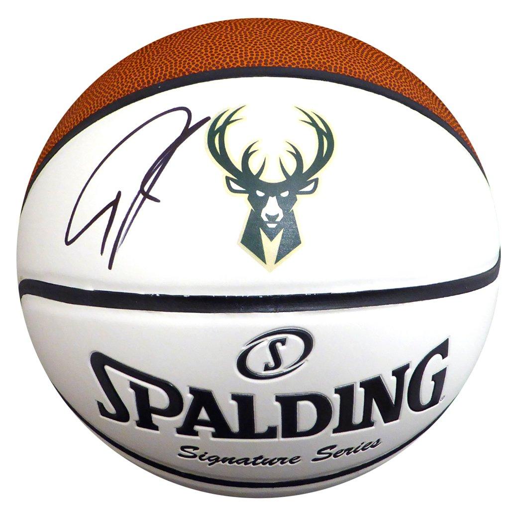 Giannis Antetokounmpo Autographed Signed Official Milwaukee Bucks Spalding Logo Basketball BECKETT