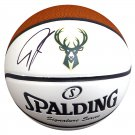 Giannis Antetokounmpo Autographed Signed Official Milwaukee Bucks Spalding Logo Basketball BECKETT