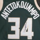Giannis Antetokounmpo Autographed Signed Milwaukee Bucks Nike Swingman jersey BECKETT