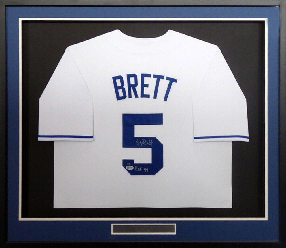 George Brett Autographed Signed Framed Kansas City Royals Jersey BECKETT