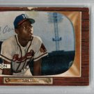 Hank Aaron Milwaukee Braves Signed Autographed 1955 Bowman Card PSA