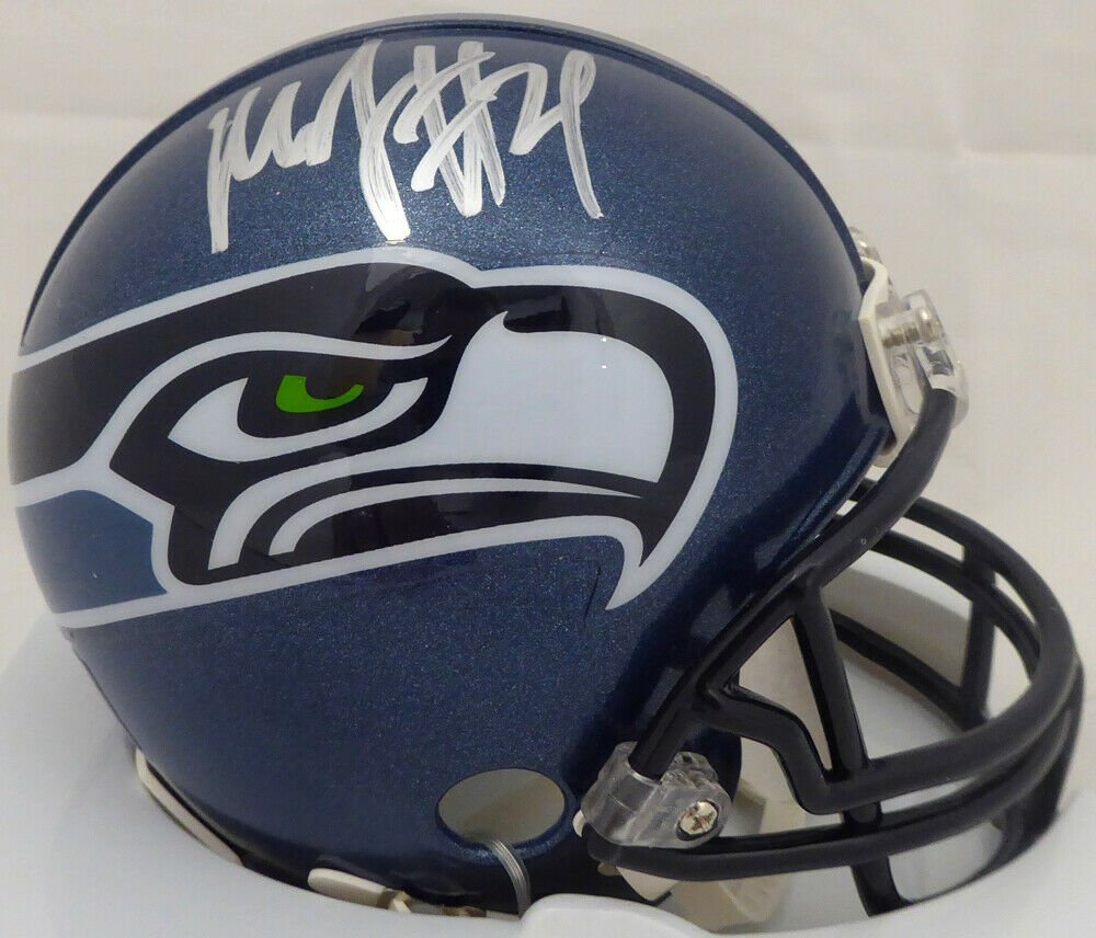Marshawn Lynch Signed Autographed Seattle Seahawks Mini Helmet PSA