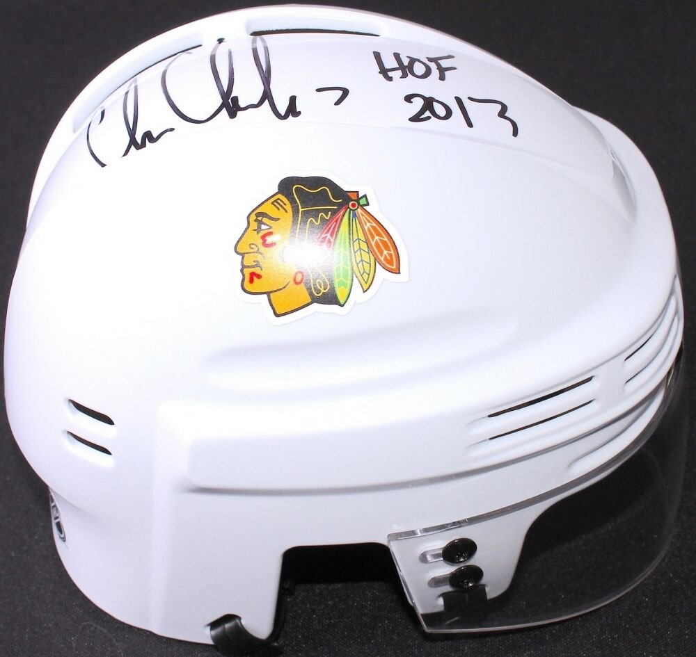 Chris Chelios Autographed Signed Chicago Blackhawks Mini Helmet SSA COA