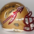 Fred Biletnikoff Raiders Signed Autographed Florida State Seminoles Mini Helmet FB COA