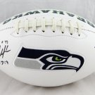 Shaun Alexander Signed Autographed Seattle Seahawks Logo Football BECKETT
