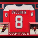 Alex Ovechkin Autographed Signed Framed Washington Capitals Jersey JSA