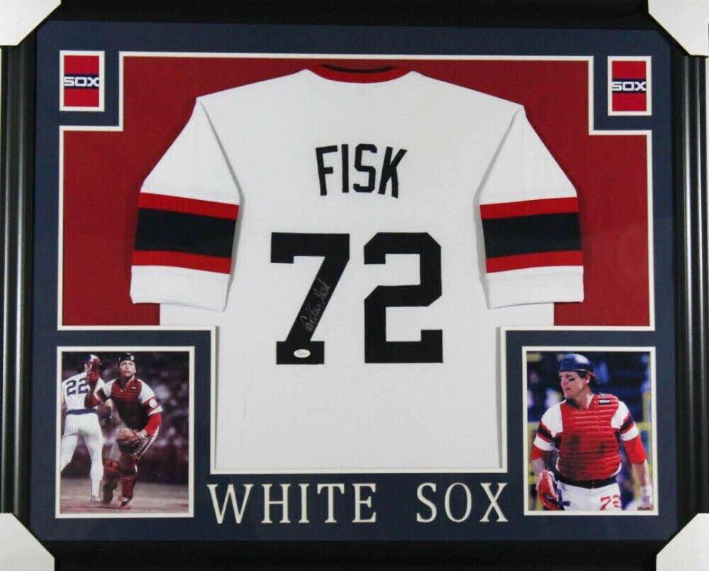 Carlton Fisk Signed Autographed Framed Chicago White Sox Jersey JSA