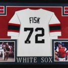 Carlton Fisk Signed Autographed Framed Chicago White Sox Jersey JSA