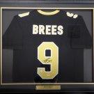 Drew Brees Autographed Signed Framed New Orleans Saints Jersey PSA