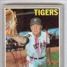 Norm Cash Detroit Tigers Signed Autographed 1970 Topps Card PSA