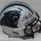 Christian McCaffrey Autographed Signed Carolina Panthers Mini Helmet BECKETT
