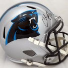 Christian McCaffrey Autographed Signed Carolina Panthers FS Speed Replica Helmet BECKETT