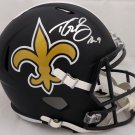 Drew Brees Autographed Signed New Orleans Saints Matte Black Full Size Speed Helmet BECKETT
