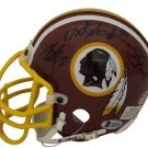 Gibbs, Monk, Clark, Sanders & Mitchell Signed Autographed Washington Redskins Mini Helmet BECKETT