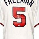 Freddie Freeman Autographed Signed Atlanta Braves Majestic Jersey FANATICS