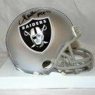 Marcus Allen Signed Autographed Oakland Raiders Mini Helmet JSA