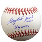 Gaylord Perry Giants Indians Signed Autographed MLB Baseball PSA