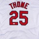 Jim Thome Signed Autographed Cleveland Indians Jersey JSA