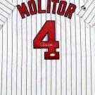Paul Molitor Autographed Signed Minnesota Twins Jersey JSA