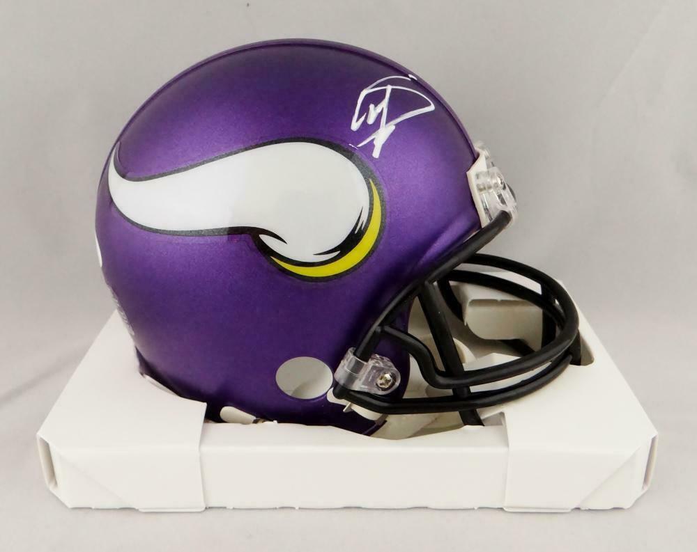 Stefon Diggs Autographed Signed Minnesota Vikings Mini Helmet JSA