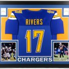 Philip Rivers Autographed Signed Chargers Framed Jersey BECKETT