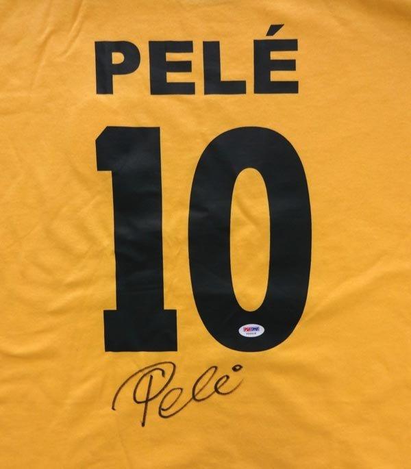 Pele Signed Autographed CBD Brazil Jersey PSA/DNA