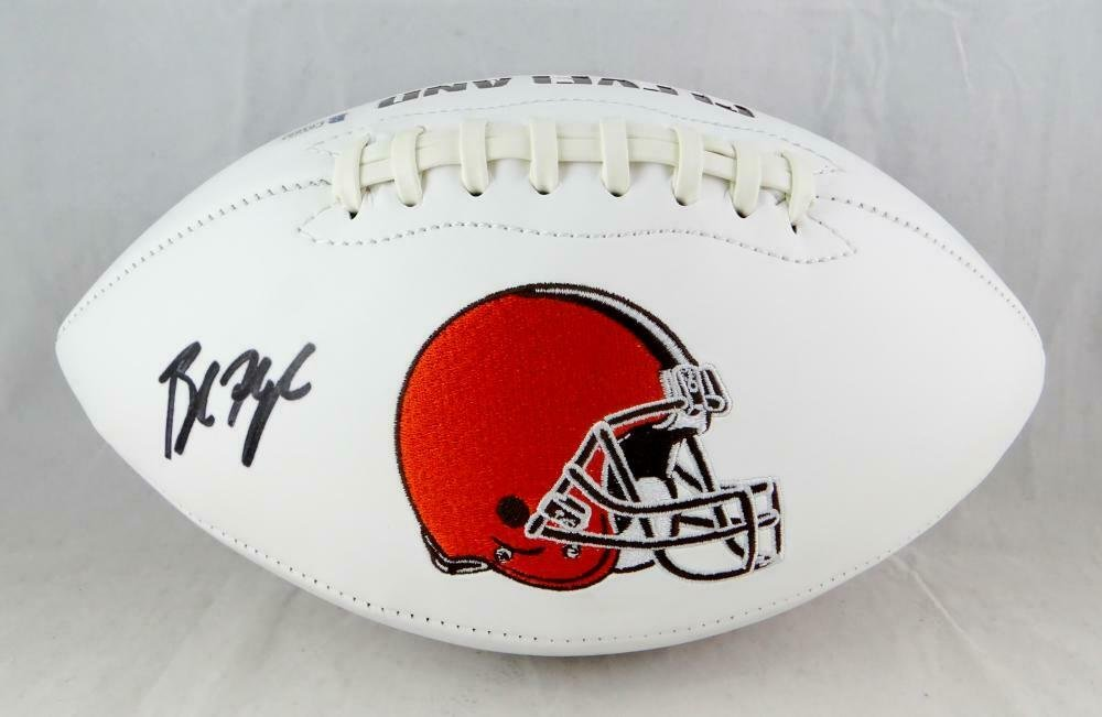 Baker Mayfield Signed Autographed Cleveland Browns Logo Football BECKETT