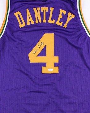 Adrian Dantley Autographed Signed Utah Jazz Jersey JSA