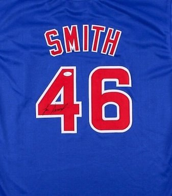 Lee Smith Autographed Signed Chicago Cubs Jersey JSA