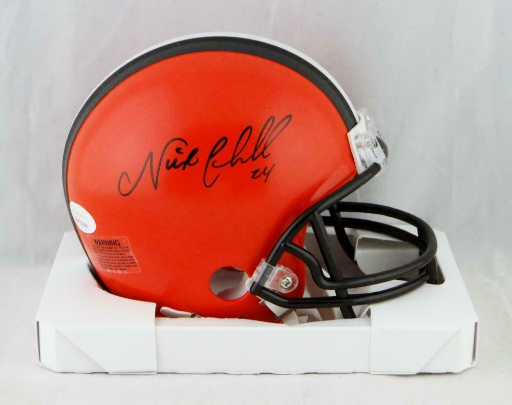 Nick Chubb Signed Autographed Cleveland Browns Mini Helmet JSA