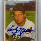 Early Wynn Cleveland Indians Autographed Signed 1954 Bowman Card BECKETT GM MT10