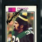 Franco Harris Steelers Autographed Signed 1973 Topps Rookie Card SGC