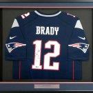 Tom Brady Autographed Signed Framed New England Patriots Nike Jersey TRISTAR