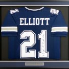 Ezekiel Elliott Signed Autographed Framed Dallas Cowboys Jersey BECKETT