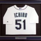 Ichiro Suzuki Autographed Signed Framed Seattle Mariners Majestic Jersey ICHIRO COA