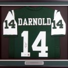 Sam Darnold Autographed Signed Framed New York Jets Jersey BECKETT