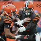 Baker Mayfield & Nick Chubb Signed Autographed Cleveland Browns 16x20 Photo BECKETT