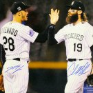 Nolan Arenado & Charlie Blackmon Signed Autographed 16x20 Photo MLB