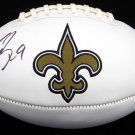 Drew Brees Autographed Signed New Orleans Saints Logo Football BECKETT