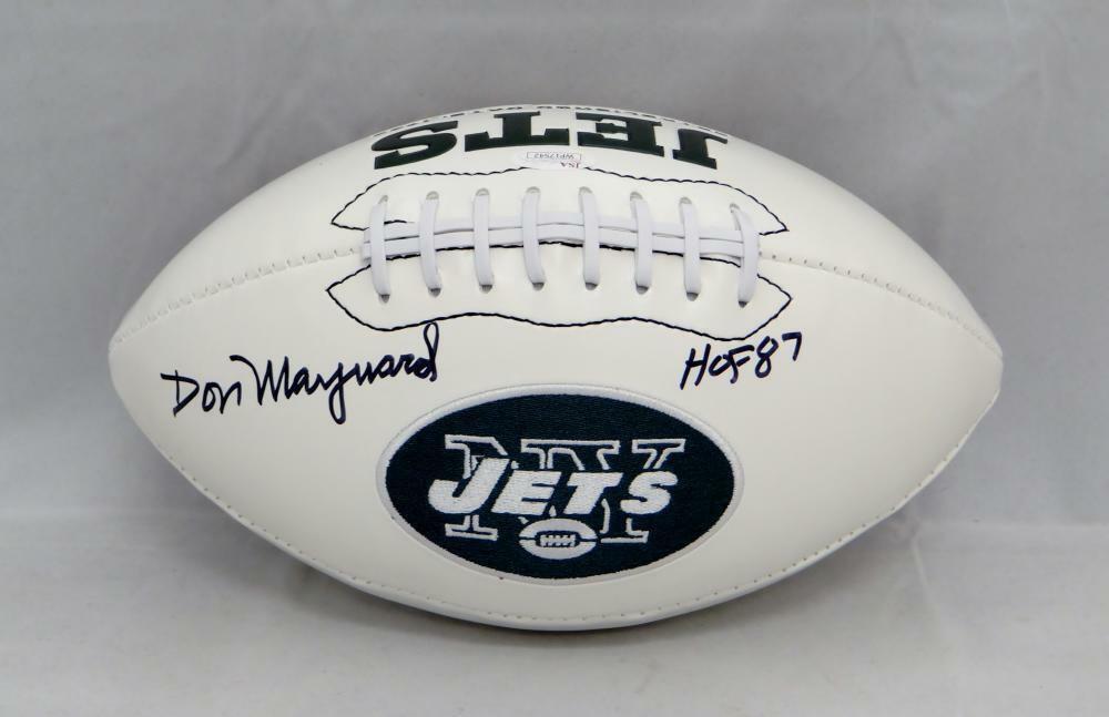Don Maynard Autographed Signed New York Jets Logo Football JSA