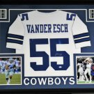 Leighton Vander Esch Autographed Signed Framed Dallas Cowboys Jersey JSA