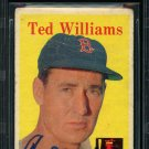 Ted Williams Boston Red Sox Signed Autographed 1958 Topps Card BECKETT
