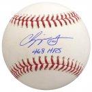 Chipper Jones Atlanta Braves Autographed Signed Official Baseball PSA