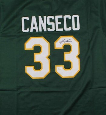 Jose Canseco Autographed Signed Oakland A's Jersey JSA
