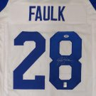 Marshall Faulk Autographed Signed St. Louis Rams Jersey PSA